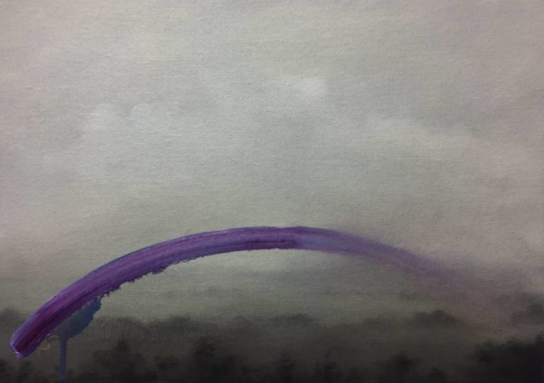 Landscape with purple arc